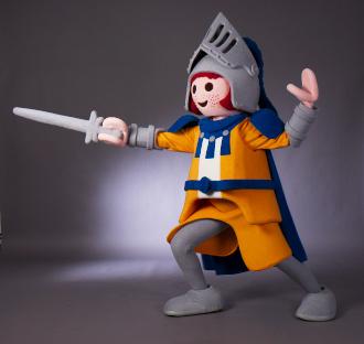 Maskottchen Playmobil-Ritter